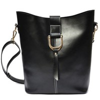Leather laptop shoulder bag leather bag leather bucket bag Messenger Bag