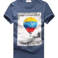 Balloon Printing Cotton T-shirt For Men