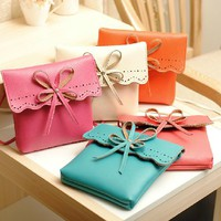 Candy Colored Leather Purse for Summer