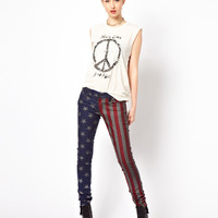 Kill City American Flag Skinny Jeans
