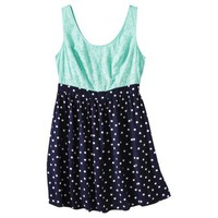 Xhilaration Junior&#x27;s Plus-Size Sleeveless Tank Dress - Navy Blue