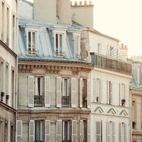 Pale Paris Morning - Paris Photography, Montmartre, Pale White and Cream, Shabby Chic, Pastel, Neutrals, French Decor, Home Decor
