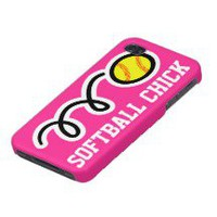 Softball iPhone Cases, Softball iPhone 5, 4 & 3 Case/Cover Designs