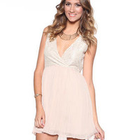DJPremium.com - Women - Shop by Department - Dresses - Javier Lace and Poly Chiffon Dress
