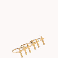 Three-Finger Cross Ring | FOREVER 21 - 1056873418