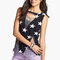 Soprano Star Shredded Tank (Juniors) | Nordstrom