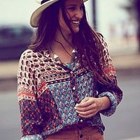 Free People  FP ONE Samba Mix Shirt at Free People Clothing Boutique
