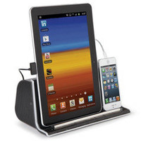 The Smartphone And Tablet Charging Speaker Dock - Hammacher Schlemmer