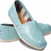 Turquoise Metallic Linen Women&#x27;s Classics