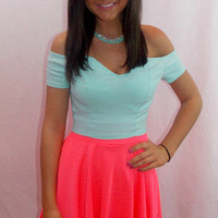 Aqua Miami Squeeze Crop Top - Haute Pink Boutique