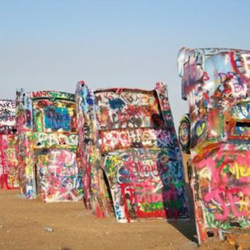 Amarillo Cadillac Ranch #5 Art Print by Shawn Terry King | Society6, cases and skins