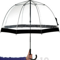 Birdcage Umbrellas: Transparent domed canopy umbrella