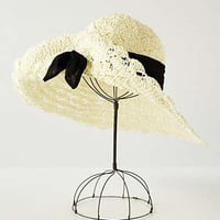 Anthropologie - Tied Macrame Sunhat