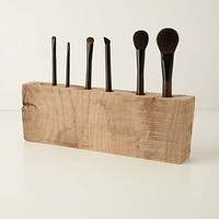 Anthropologie - Oakwood Makeup Brush Holder