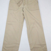 Abercrombie & Fitch Khaki Pants with Tie Waist - Size XS