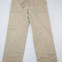 Abercrombie &amp; Fitch Khaki Pants with Tie Waist - Size XS