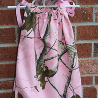 Realtree Pink Camo Dress with matching bow