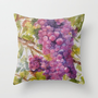 GRAPES Throw Pillow by Vargamari