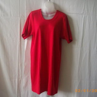 Red Weekenders cotton and polyester short-sleeved dress, size small