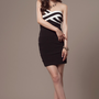[FREE SHIPPING] Black Knitting Sheath Dress