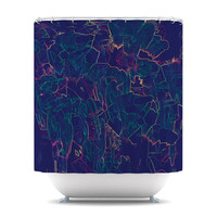 "Kathryn Pledger ""Night Life"" Shower Curtain 