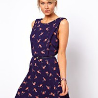 Oasis Flamingo Skater Dress at asos.com