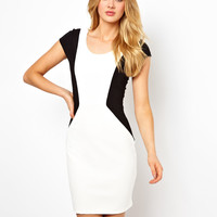 Vila Contrast Panel Dress