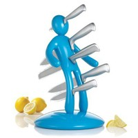 THE EX Kitchen Knife Set by Raffaele Iannello, Blue:Amazon:Kitchen & Dining