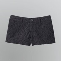 Junior's Girly Lace Shorts