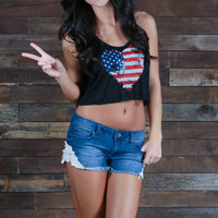 I Heart America Crop Top