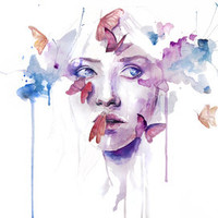 about a new place Art Print by Agnes-cecile