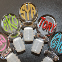 Personalized Oval Wine Stopper--Assorted Designs