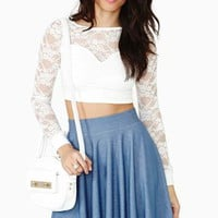 Marielle Lace Crop Top