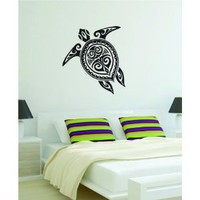 Turtle Design Decal Sticker Wall Vinyl Animal Tribal Art