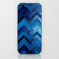 sparkly and dark blue adventure iPhone &amp; iPod Skin by Marianna Tankelevich