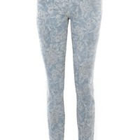 Oxygen | Current/Elliott The High Waist Crop Skinny Jean in Indigo Floral