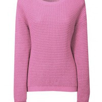 Pink Fisherman Knit Jumper