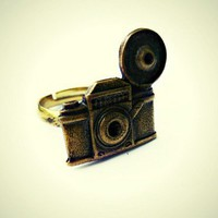 vintage camera ring, photography ring