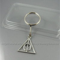 Harry Potter Keychain,Deathly Hallows Keychain,gift for harry potter fans,boyfriend,husband gift