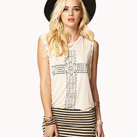 Studded Geo Cross Muscle Tee | FOREVER 21 - 2051215226