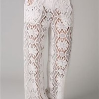 Trina Turk&#x27;s Kuta Crochet Covers Pants | Everything But Water