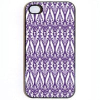 iPhone 4 4s Case Purple and White Hearts comes in by KustomCases