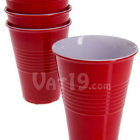 "Reusable ""Plastic"" Cups: Party cups that you never throw away."