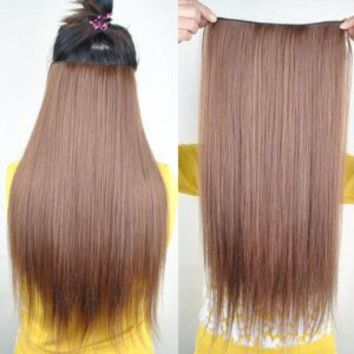 "Amazon.com: 8 Color 23"" Straight Full Head Clip in Hair Extensions Wwii101 (Blonde 613): Beauty"