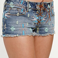 Kendall &amp; Kylie Embroidered Lace Up Shorts at PacSun.com