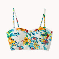 Electric Tropical Print Bustier | FOREVER 21 - 2023522152
