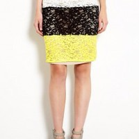 Tenzone Black Lace Pencil Skirt by Sportmax Code