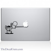 Yoshi Tongue Macbook Decal | Macbook Vinyl Decals | The Decal Guru