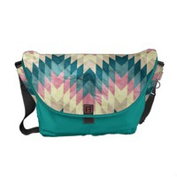 Speckled Chevron Courier Bag from Zazzle.com