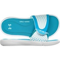 Under Armour Women&#x27;s Ignite V Slide - Blue/White | DICK&#x27;S Sporting Goods